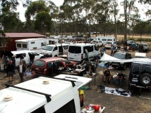 Swap meet scene. Although it looks hectic there are plenty of sites available.